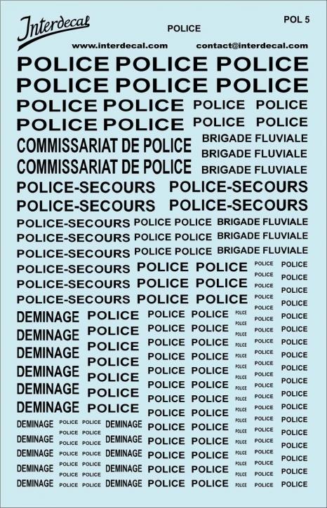 Police   (140x90 mm) schwarz