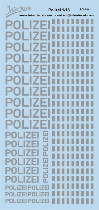 Polizei Logo und Gaps 1/18 (190x90 mm)