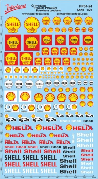 Öl Produkte 4 Shell Sponsoren Decal 1/24 (200x110 mm)