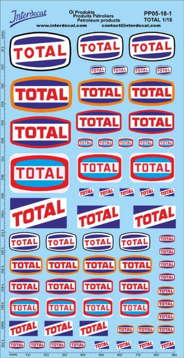 Petroleum products 5-1 TOTAL sponsors Decal 1/18 (195x100 mm)