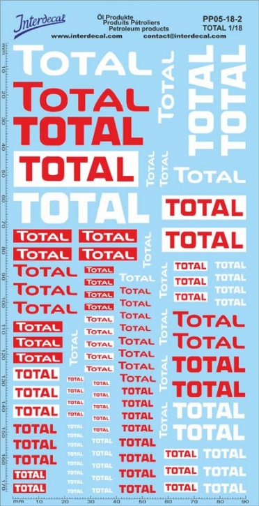 Petroleum products 5-2 TOTAL sponsors Decal 1/18 (195x100 mm)