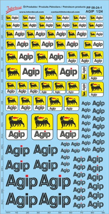 Öl Produkte 08-1   1/24  Agip Sponsoren Decal (195x100 mm)