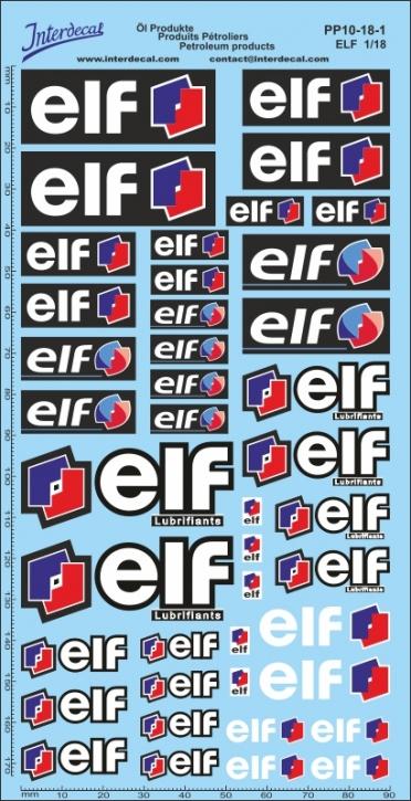 Petroleum products 10-1 Elf sponsors Decal 1/18 (200x100 mm)
