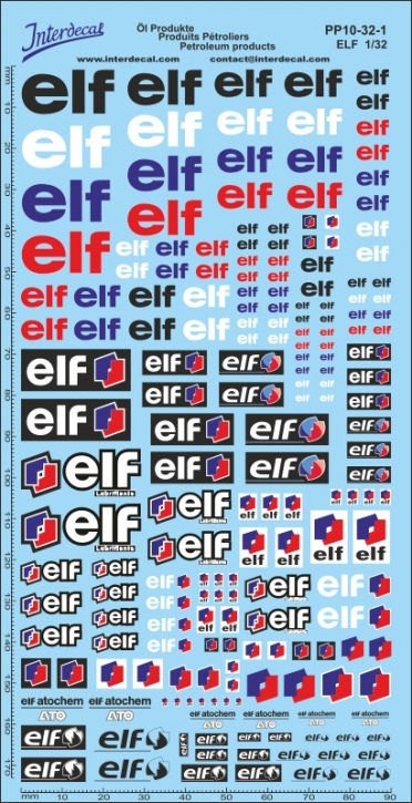 Öl Produkte 10-1 Elf Sponsoren Decal 1/32 (200x100 mm)