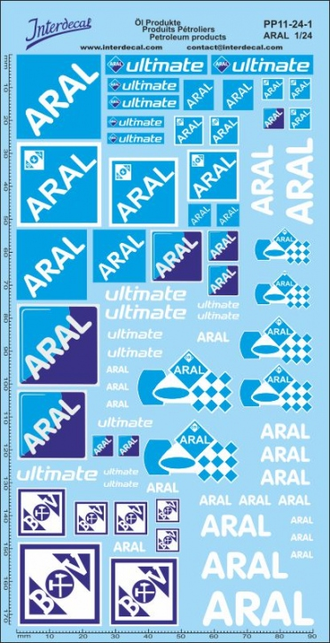 Öl Produkte 11-1 Aral Sponsoren Decal 1/24 (200x100 mm)