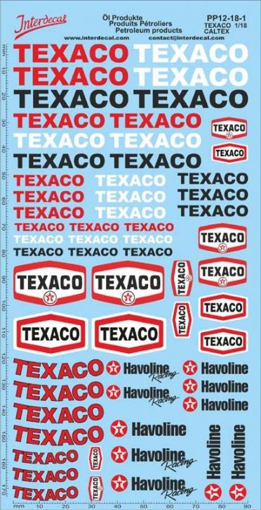 Petroleum products  12-1 Texaco/Caltex sponsors Decal 1/18 (195x100 mm)