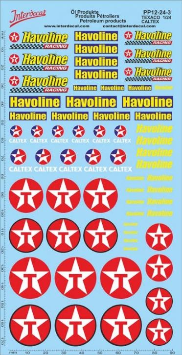 Öl Produkte 12-3 Texaco/Caltex Sponsoren Decal 1/24 (195x100 mm)