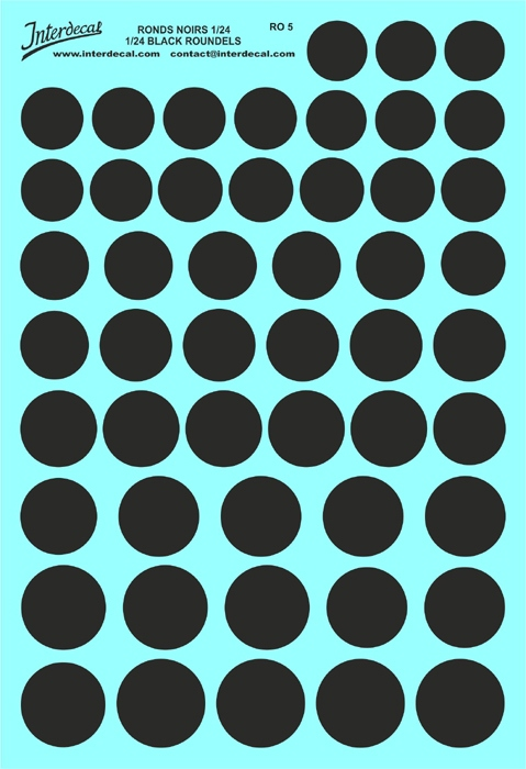 Schwarze Kreise 15,0 - 22,0 mm 1/24  (130x190 mm)