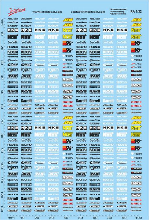 Straßenrennen Drift Decal 01 1/32 (100 x150 mm)