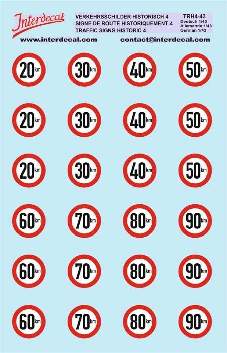 Verkehrsschilder Historisch 04 DE_1/43 (90x140 mm)