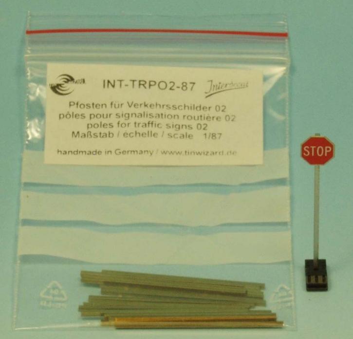Pfosten für Verkehrsschilder 02 _1/87_ 20 x (3,5 x 1,0 x 1,0mm)
