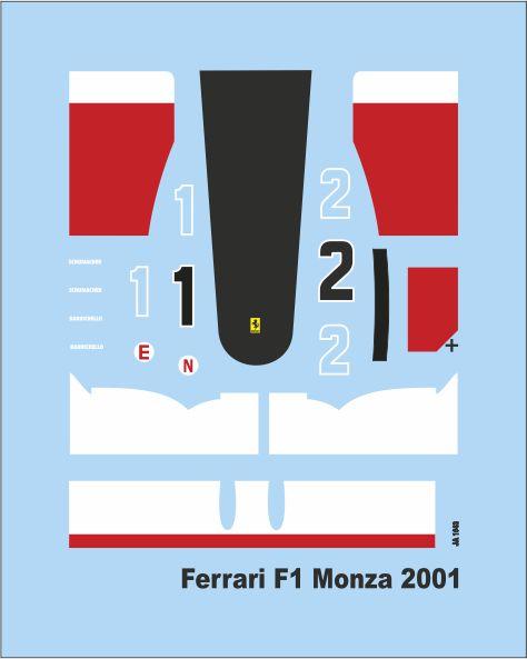Add M  F1 Monza 2001  1/43 (50x40 mm) JA1643