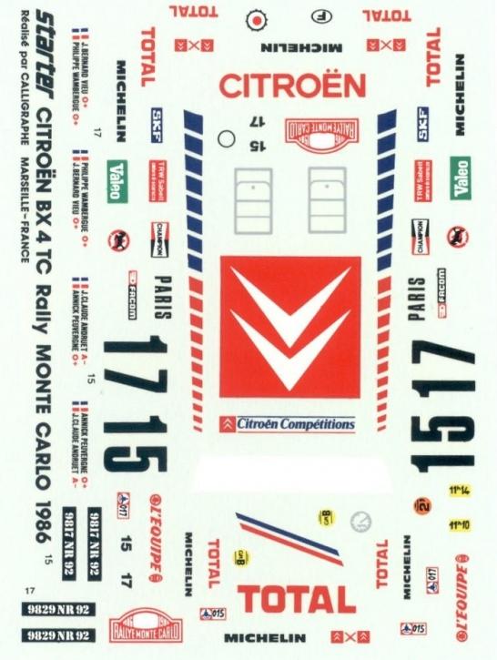 Citroen BX 4TC Rallye Monte Carlo 1986 1/43 JA0171