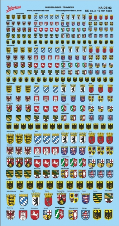 Coat of arms German Provinces  (190x100 mm) NA-DE-02