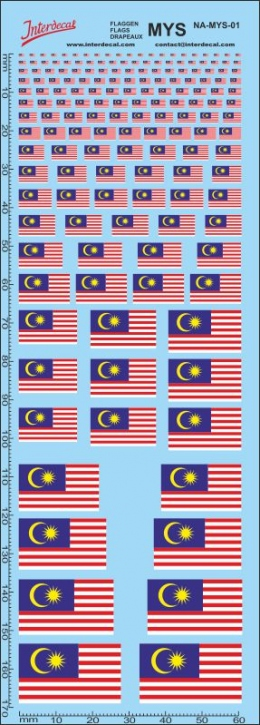 Flags Malaysia Decal (180x70 mm)