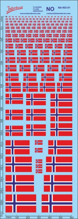 Flaggen Norwegen Decal (190x70 mm)