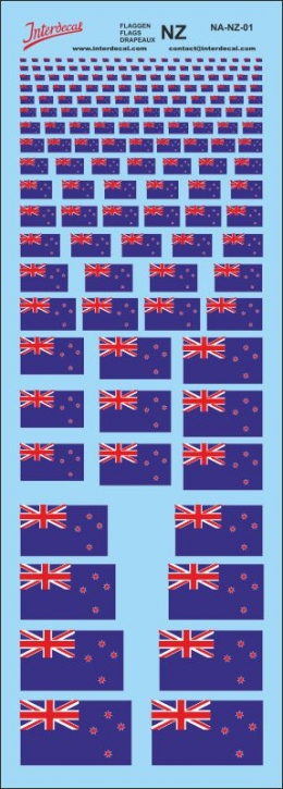Flags New Zealand Decal (180x70 mm)