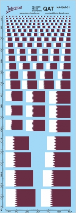 Flags Qatar Decal (180x70 mm)