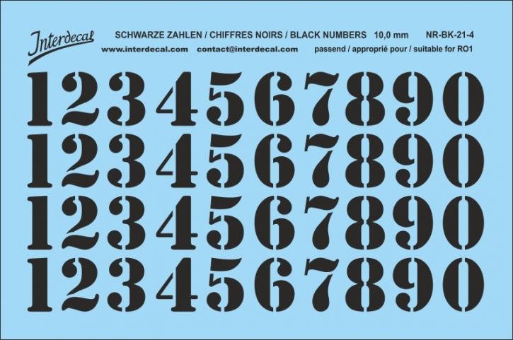 Schwarze Zahlen 04 für RO1 10 mm (95 x 63 mm) NR-BK-21-4