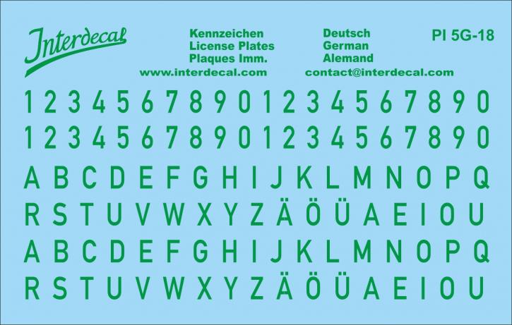 Deutsche Kennzeichen 4  1/18 (100x64 mm)