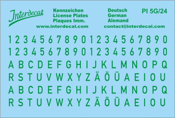 Deutsche Kennzeichen 4  1/24  (75x50 mm)