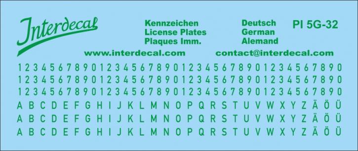 German registration plates  4  1/32 (118x50 mm)