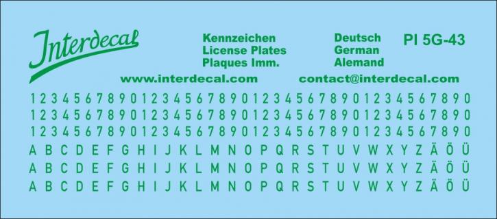 Deutsche Kennzeichen 4  1/43 (90x40 mm)