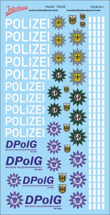 Polizei Logos und Gaps 1/18 (190x90 mm)