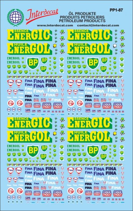 Öl Produkte / Petroleum products / Produits Pétroliers 01 1/87  (150x95 mm)