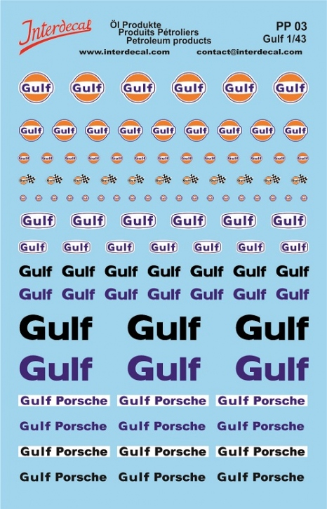 Öl Produkte 3 Gulf Sponsoren Decal (140x90 mm)