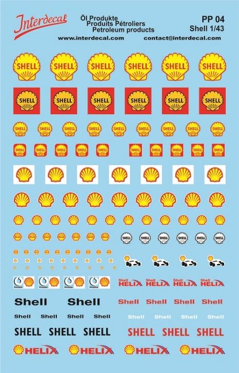 Öl Produkte 4 Shell Sponsoren Decal (140x90 mm)