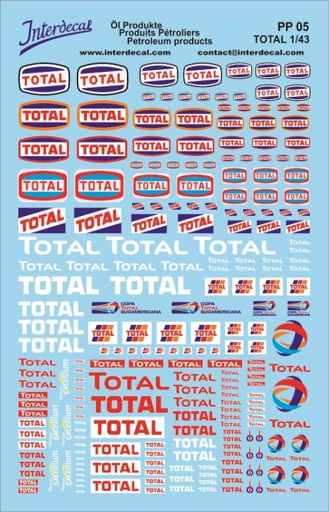 Öl Produkte 5 Total Sponsoren Decal (140x90 mm)