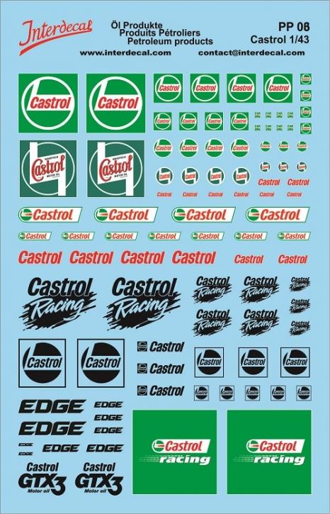 Öl Produkte 6 Castrol Sponsoren Decal (140x90 mm)