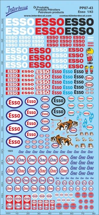 Öl Produkte 7 Esso Sponsoren Decal (195x90 mm)