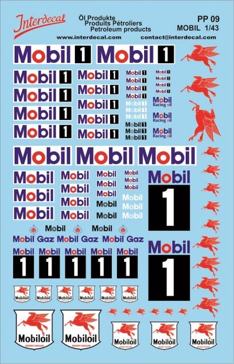 Öl Produkte 9 Mobil Sponsoren Decal (140x90 mm)