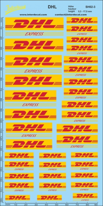 Transport, shipments DHL 3   height approximately 5,3 - 17,5 mm   (200x100 mm)