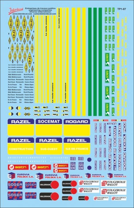 Company Logos engineering companies 1/87 (140x90 mm)