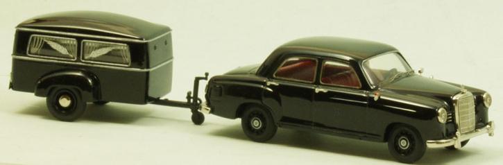 Set_ Westfalia Bestattungsanhänger Typ 250 G + Mercedes 180 a  Ponton