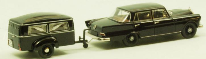 "Set Westfalia funeral trailer Type 250 G + Mercedes 190 C ""Heckflosse"""