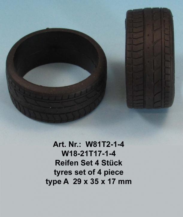 Reifen Set 4 Stück  type B  29 x 35 x 17 mm