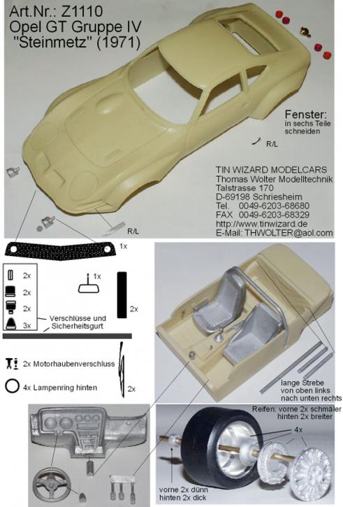 "Opel GT Gruppe IV  ""Steinmetz"""