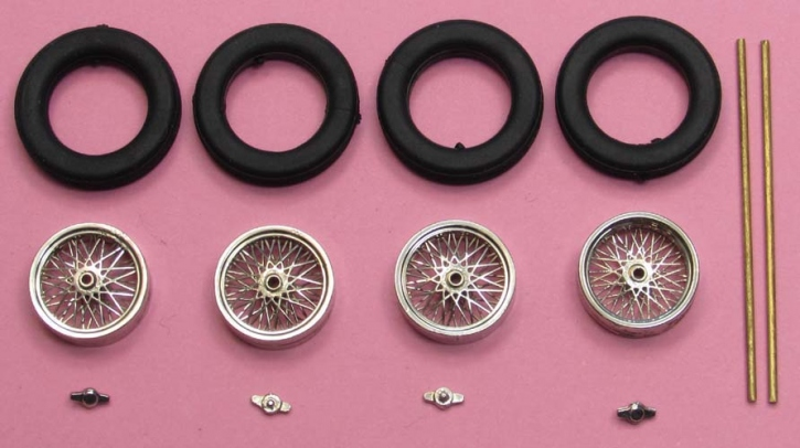 4x Spokerims  (1/43)  readymade plated ø= 10,3mm x 3,3mm  ZU0091-1-4