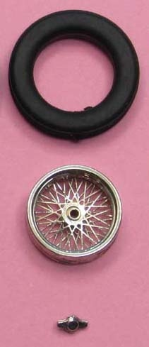 1x Spokerim (1/43)  readymade plated  ø= 12,9 mm x 3,7 mm  ZU0093-1-1