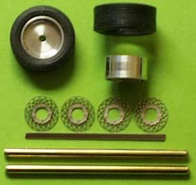 Set of wheels   BBS  1/43  ZU0102-0