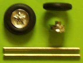 Wheelset (1/43) White metal/Pewter-chrome  ZU0116-0
