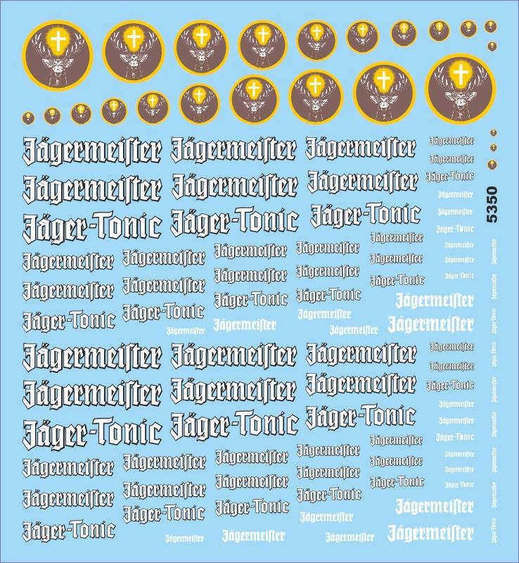 Jägermeister Sponsoren Bogen No.2-1:43 Decal Abziehbilder