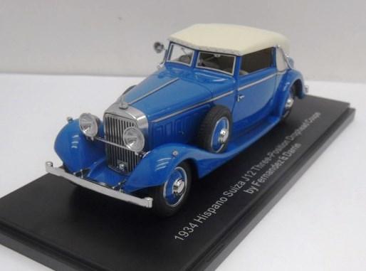 1934 Hispano Suiza J12 Three-position Drophead Coupe 1 43 Esva Models EMEU43001B