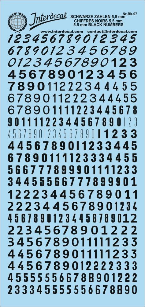 Orangene Zahlen Decal 6,3-7,5 mm Naßschiebebild Startnummern NR-OR-03