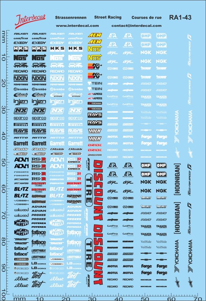 Michelin Reifen Sponsoren Bogen No.3-1:43 Decal Abziehbilder